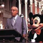 Roy O. Disney dedicating the new park on October 25, 1971.